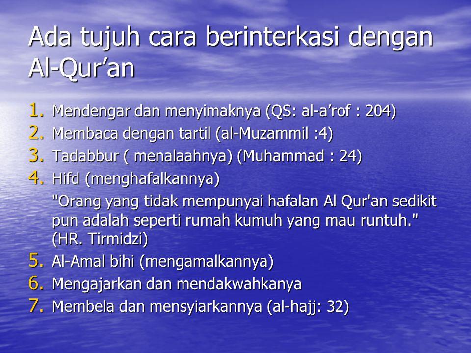 Ada tujuh cara berinterkasi dengan Al-Qur'an