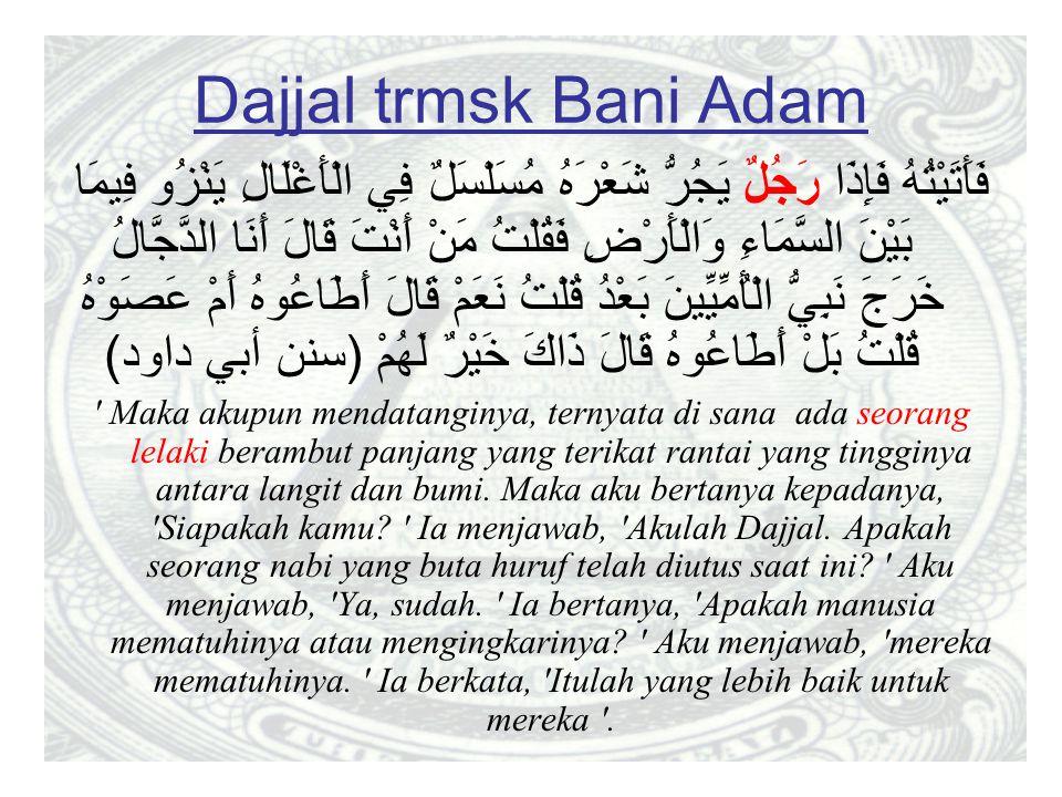 Dajjal trmsk Bani Adam