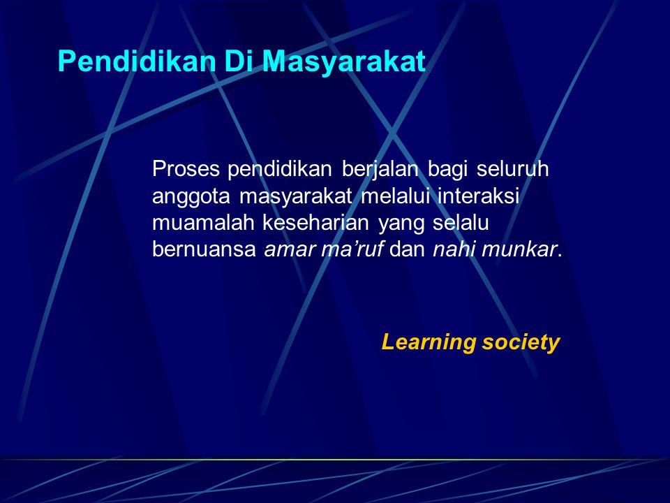 Pendidikan Di Masyarakat