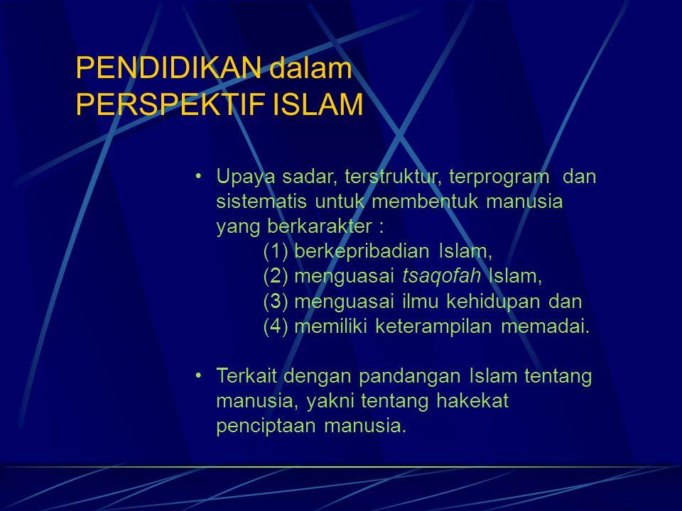 PENDIDIKAN dalam PERSPEKTIF ISLAM