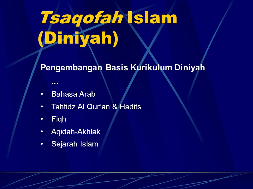 Tsaqofah Islam (Diniyah)