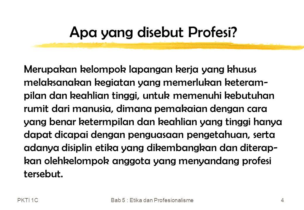 Apa yang disebut Profesi