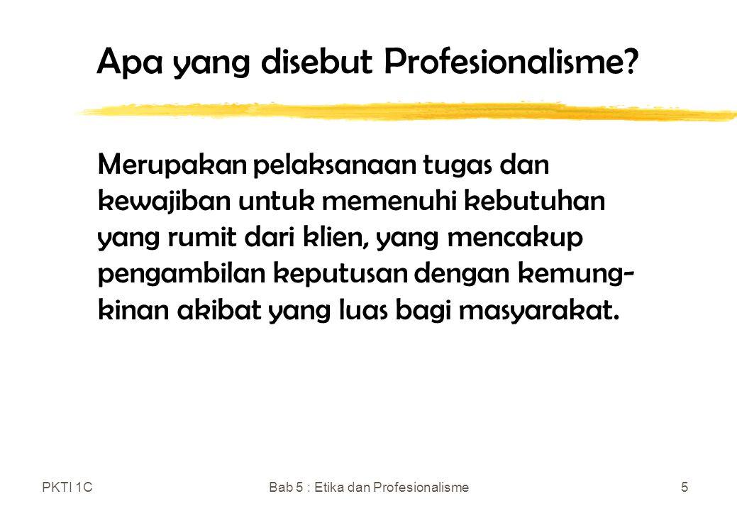 Apa yang disebut Profesionalisme