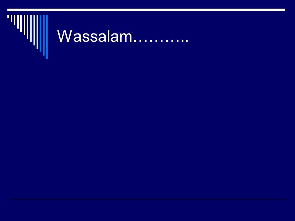 Wassalam………..