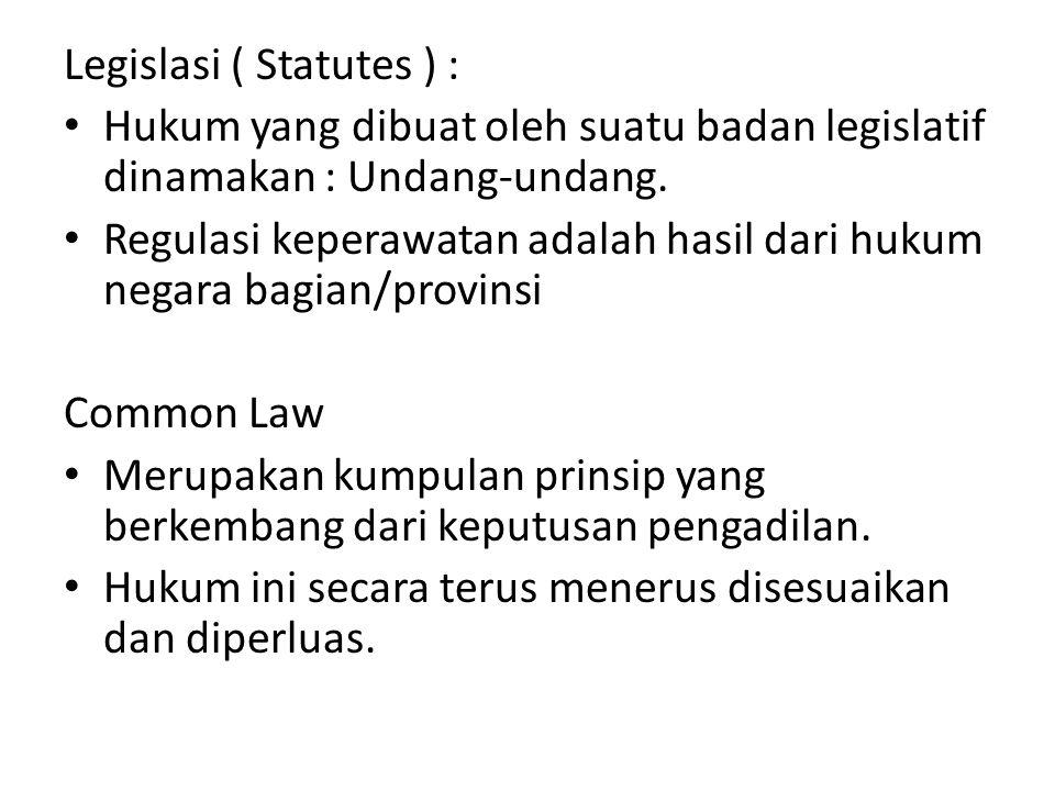 Legislasi ( Statutes ) :