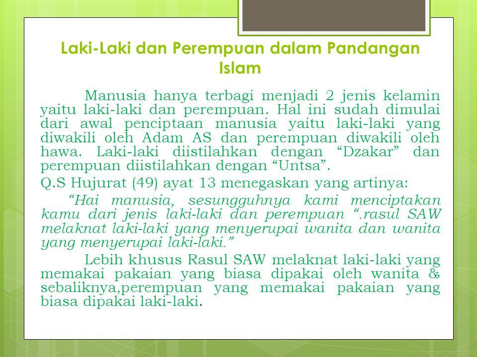 Laki-Laki dan Perempuan dalam Pandangan Islam