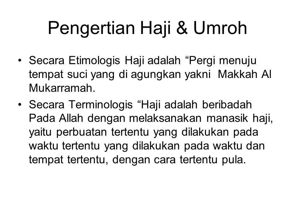 Pengertian Haji & Umroh