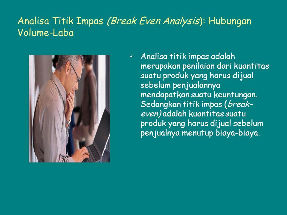 Analisa Titik Impas (Break Even Analysis): Hubungan Volume-Laba