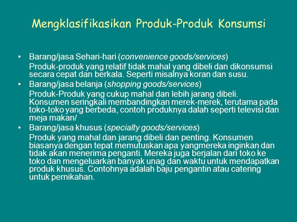 Mengklasifikasikan Produk-Produk Konsumsi