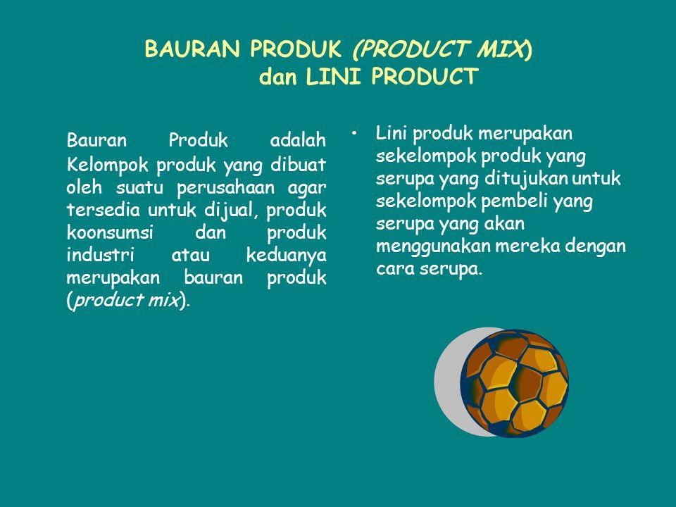 BAURAN PRODUK (PRODUCT MIX) dan LINI PRODUCT