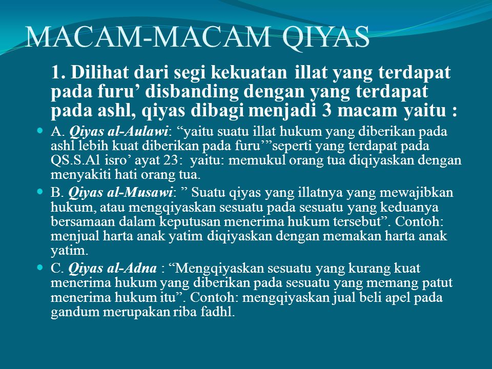 MACAM-MACAM QIYAS