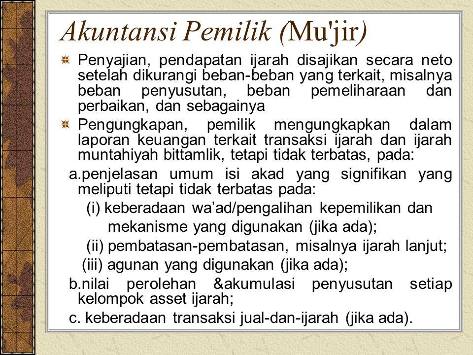 Akuntansi Pemilik (Mu jir)