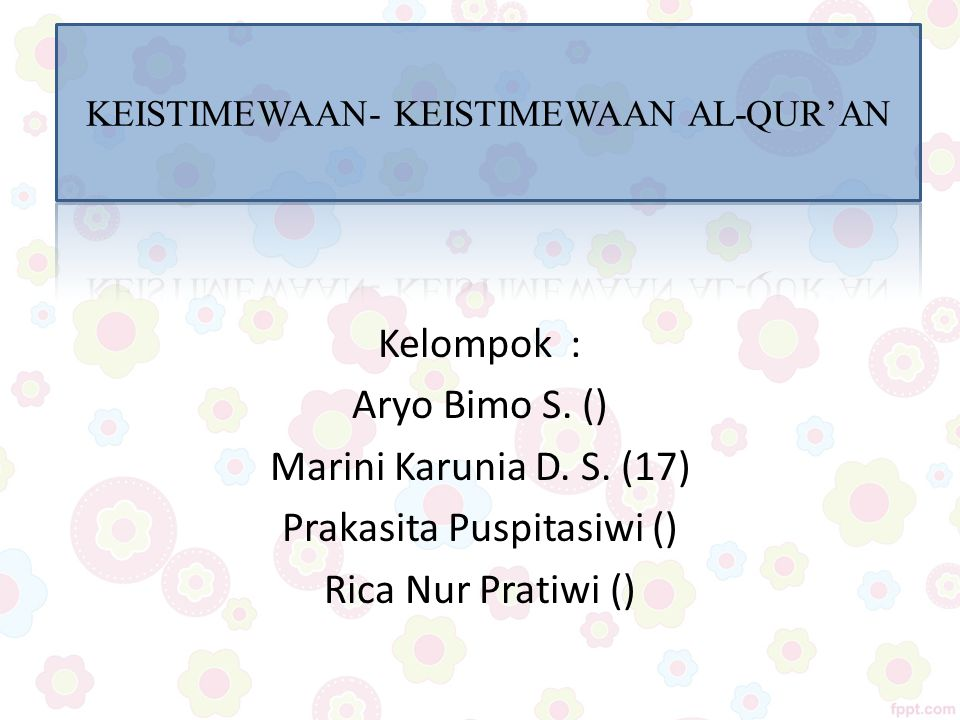 Prakasita Puspitasiwi () Rica Nur Pratiwi ()