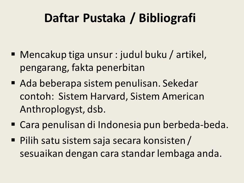 Daftar Pustaka / Bibliografi