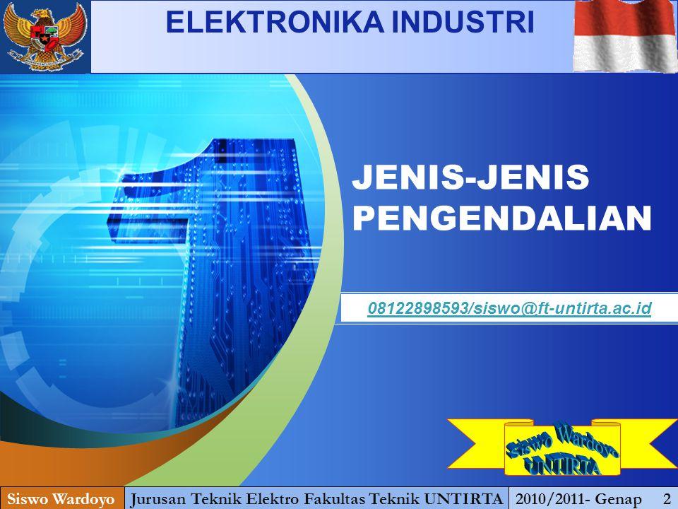 JENIS-JENIS PENGENDALIAN