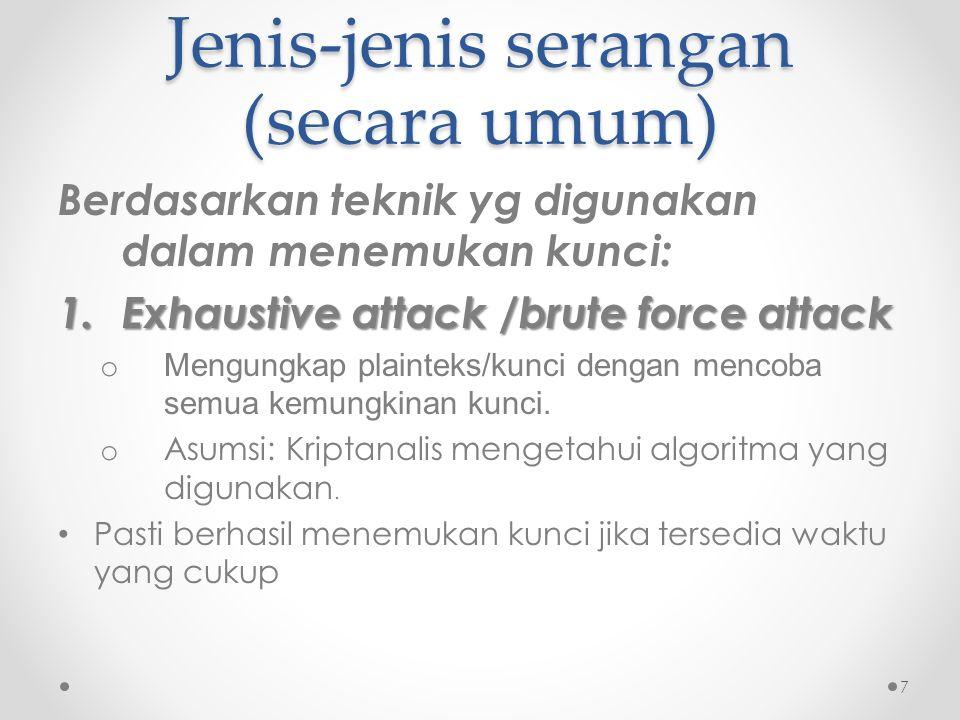 Jenis-jenis serangan (secara umum)