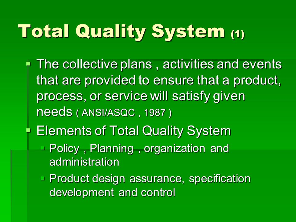 Total Quality System (1)