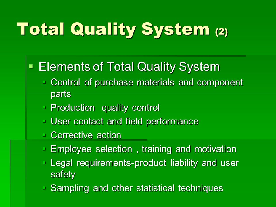 Total Quality System (2)