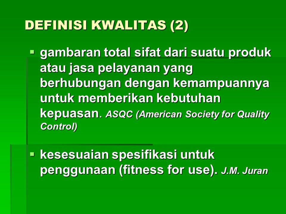 DEFINISI KWALITAS (2)