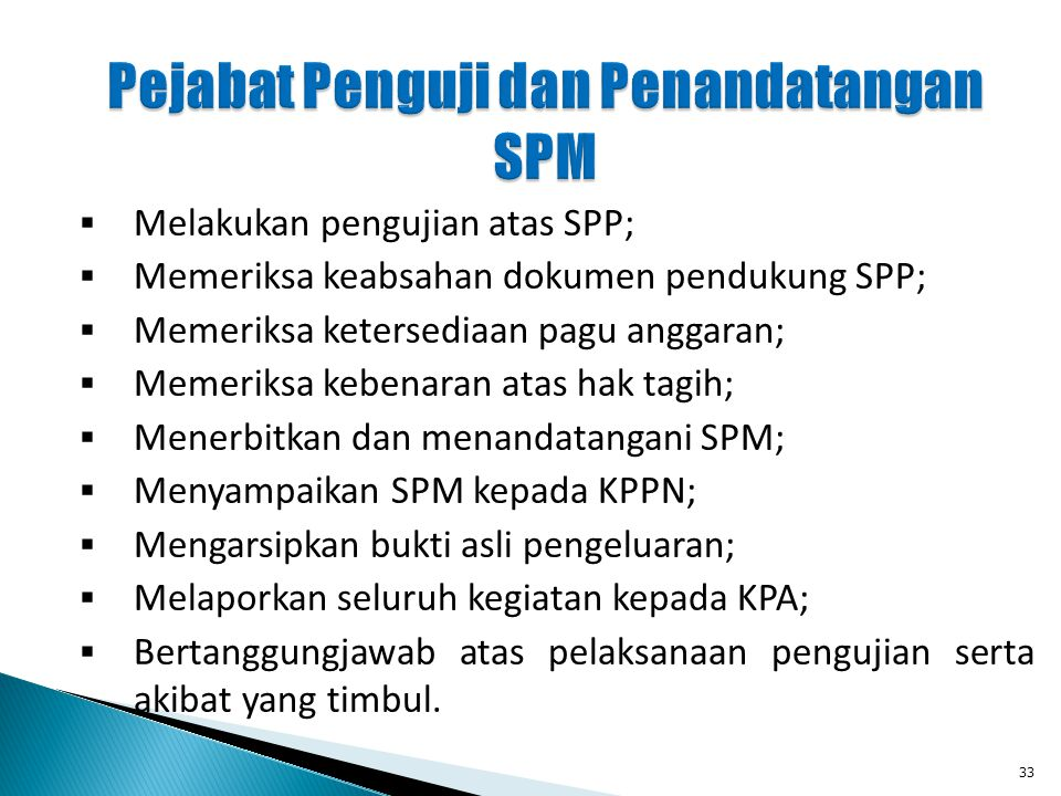 Pejabat Penguji dan Penandatangan SPM