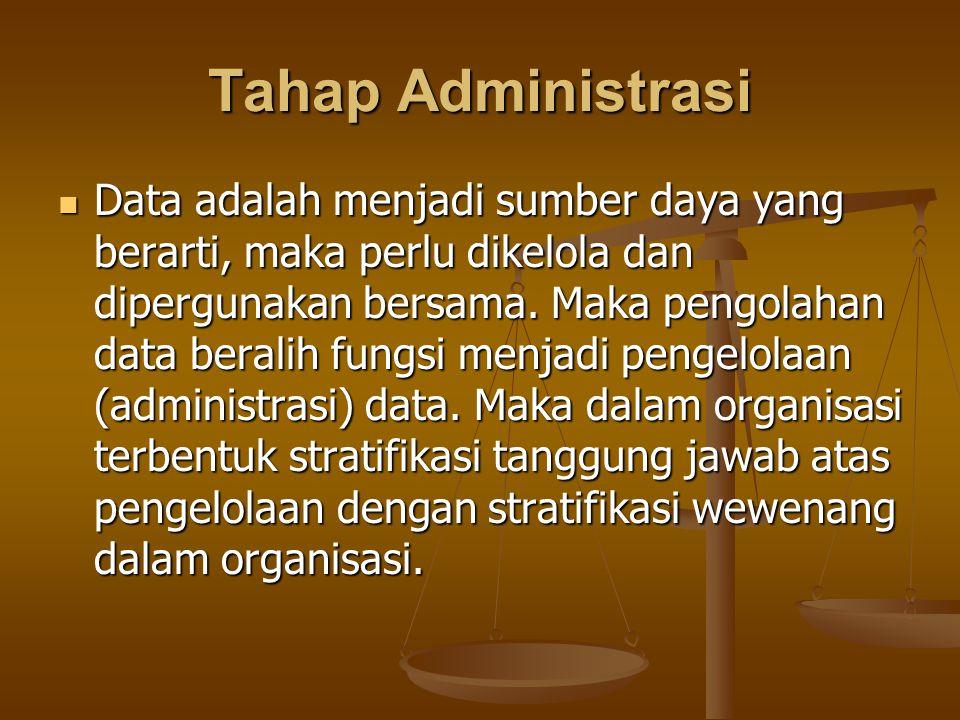 Tahap Administrasi