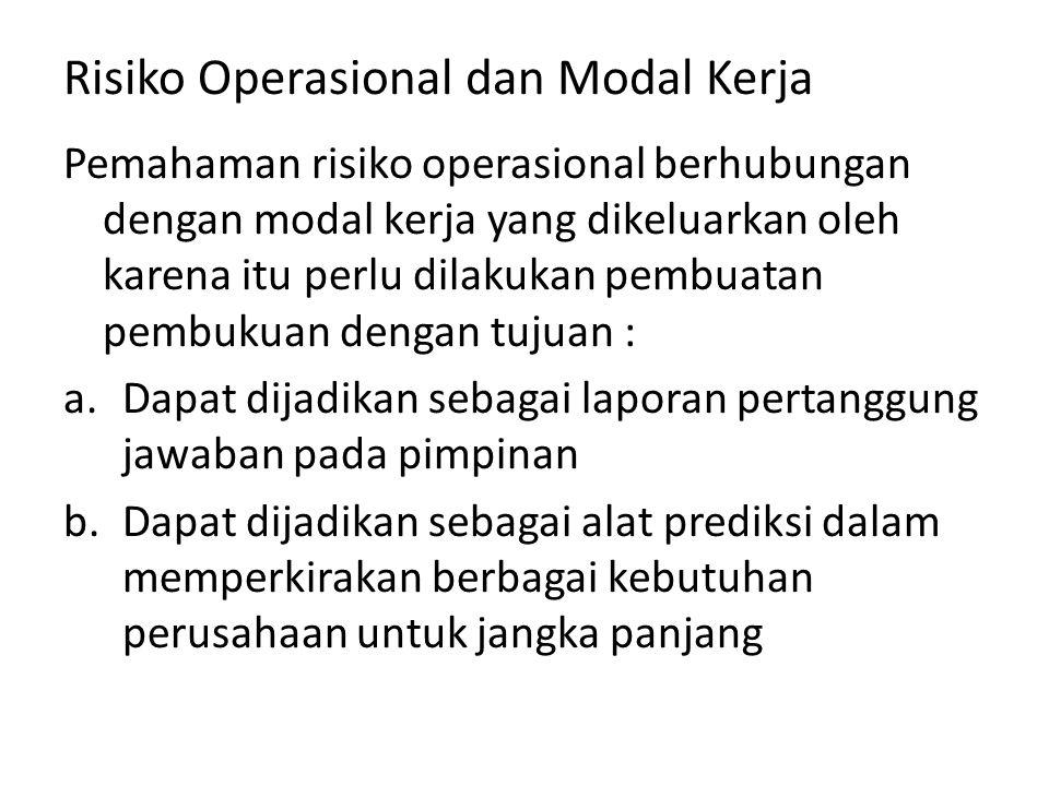 Risiko Operasional dan Modal Kerja