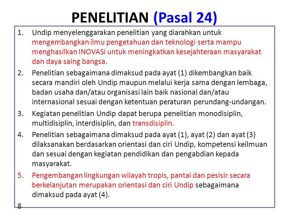 PENELITIAN (Pasal 24)