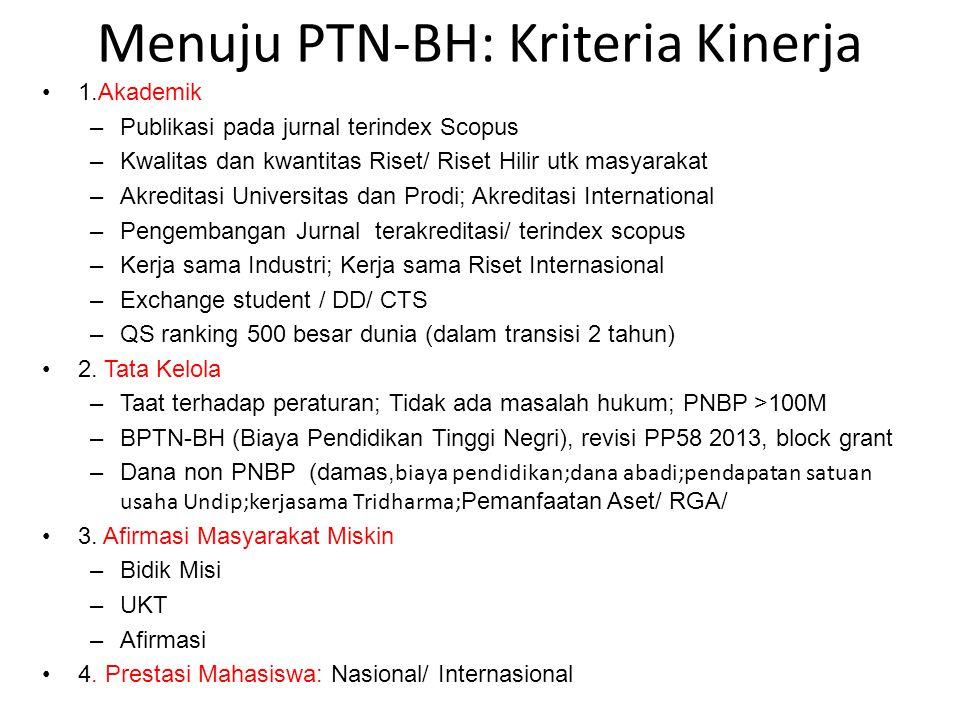Menuju PTN-BH: Kriteria Kinerja