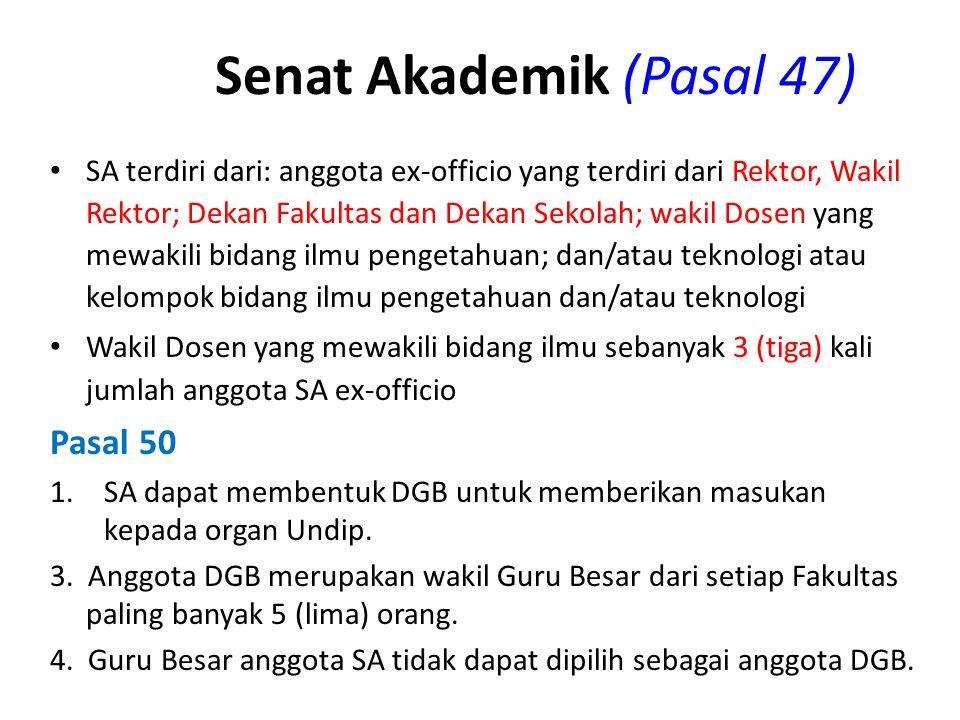 Senat Akademik (Pasal 47)