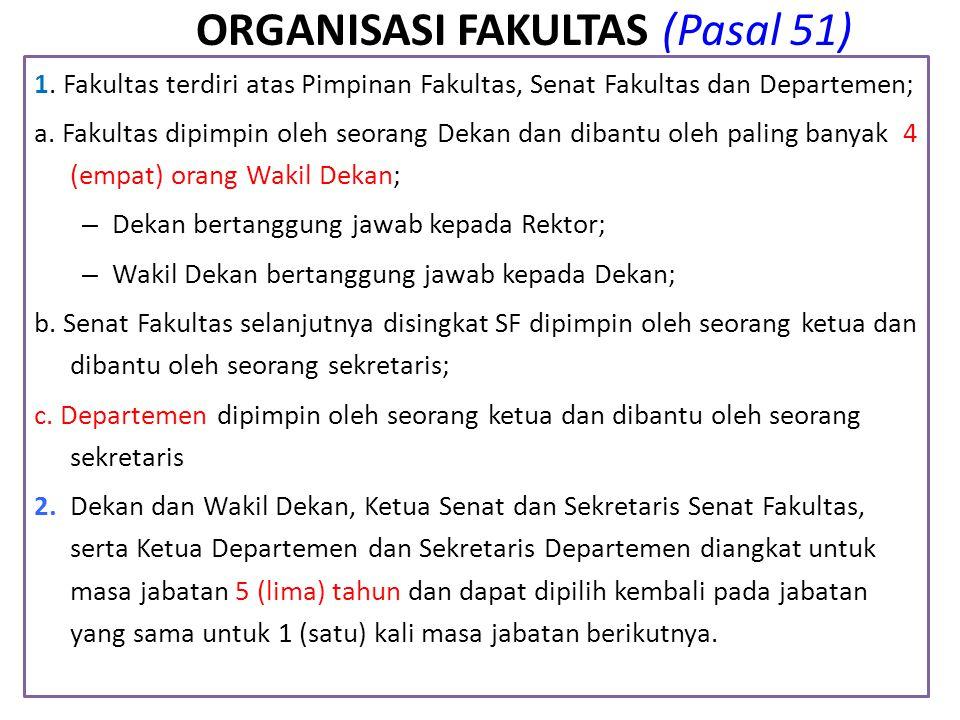 ORGANISASI FAKULTAS (Pasal 51)