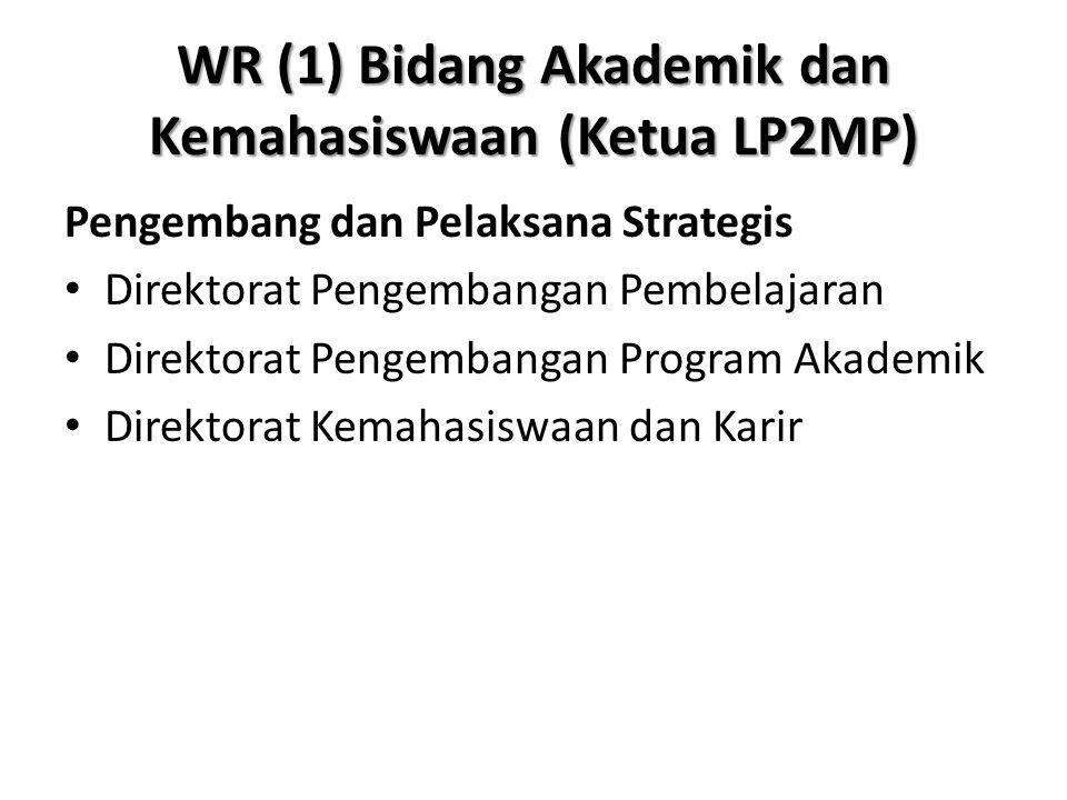 WR (1) Bidang Akademik dan Kemahasiswaan (Ketua LP2MP)