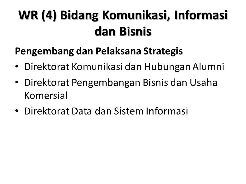 WR (4) Bidang Komunikasi, Informasi dan Bisnis