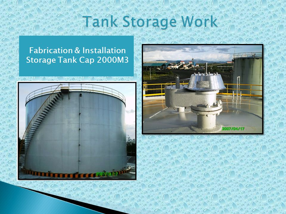 Fabrication & Installation Storage Tank Cap 2000M3