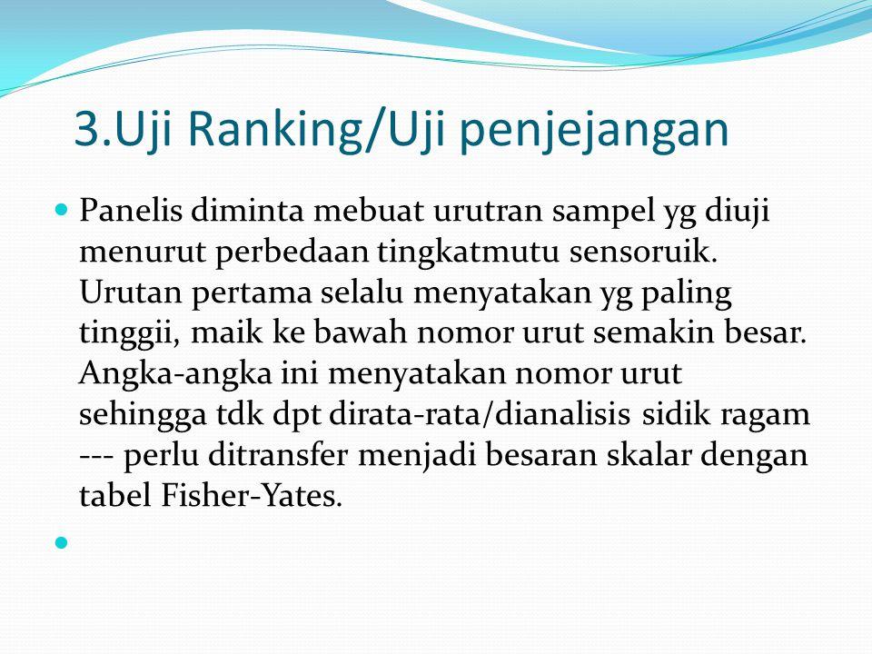 3.Uji Ranking/Uji penjejangan