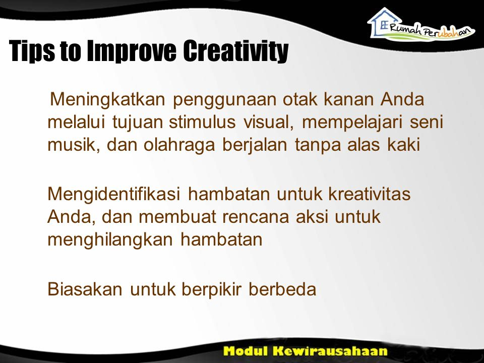 Tips to Improve Creativity