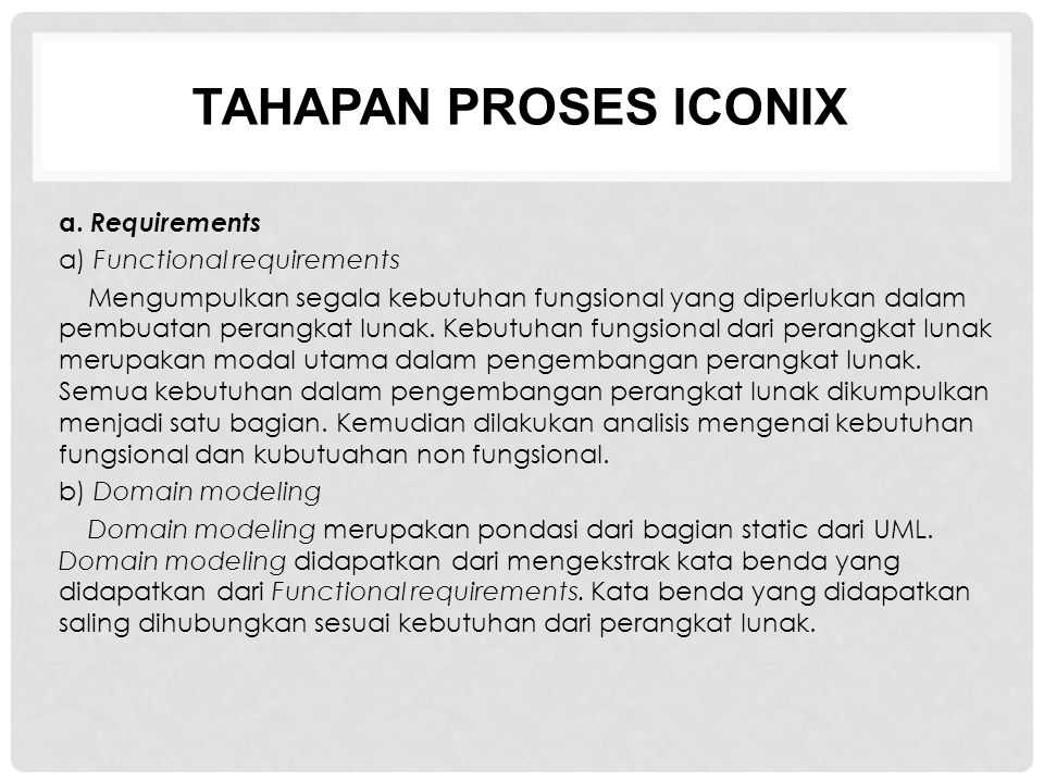 TAHAPAN PROSES ICONIX