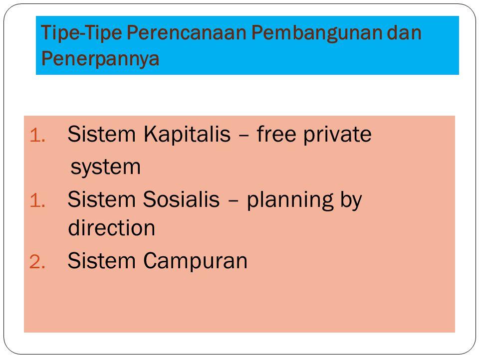 Tipe-Tipe Perencanaan Pembangunan dan Penerpannya