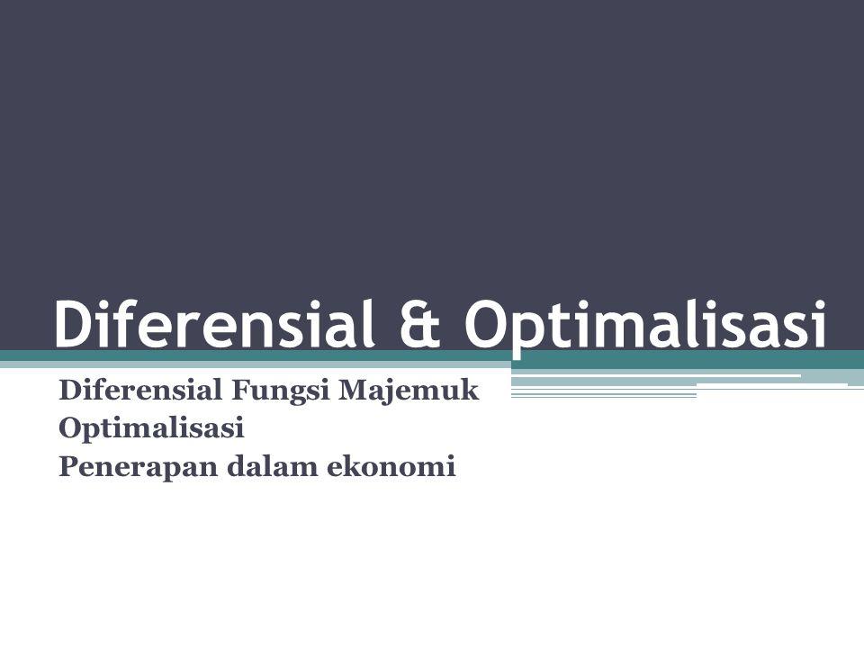 Diferensial & Optimalisasi