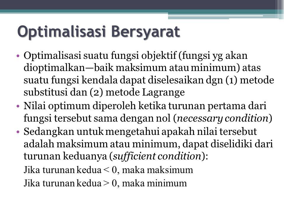 Optimalisasi Bersyarat