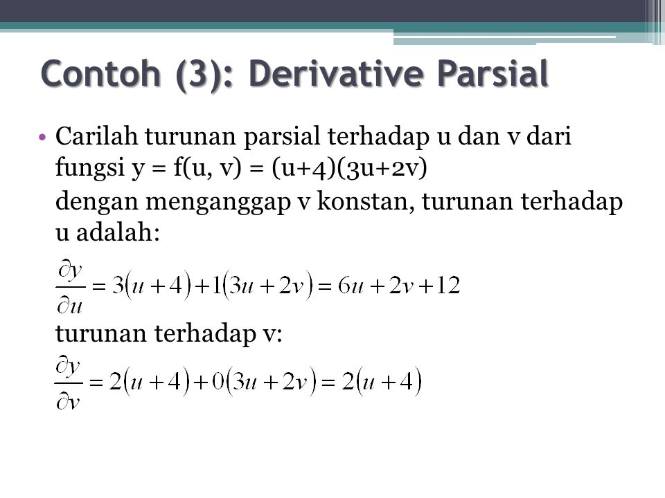 Contoh (3): Derivative Parsial