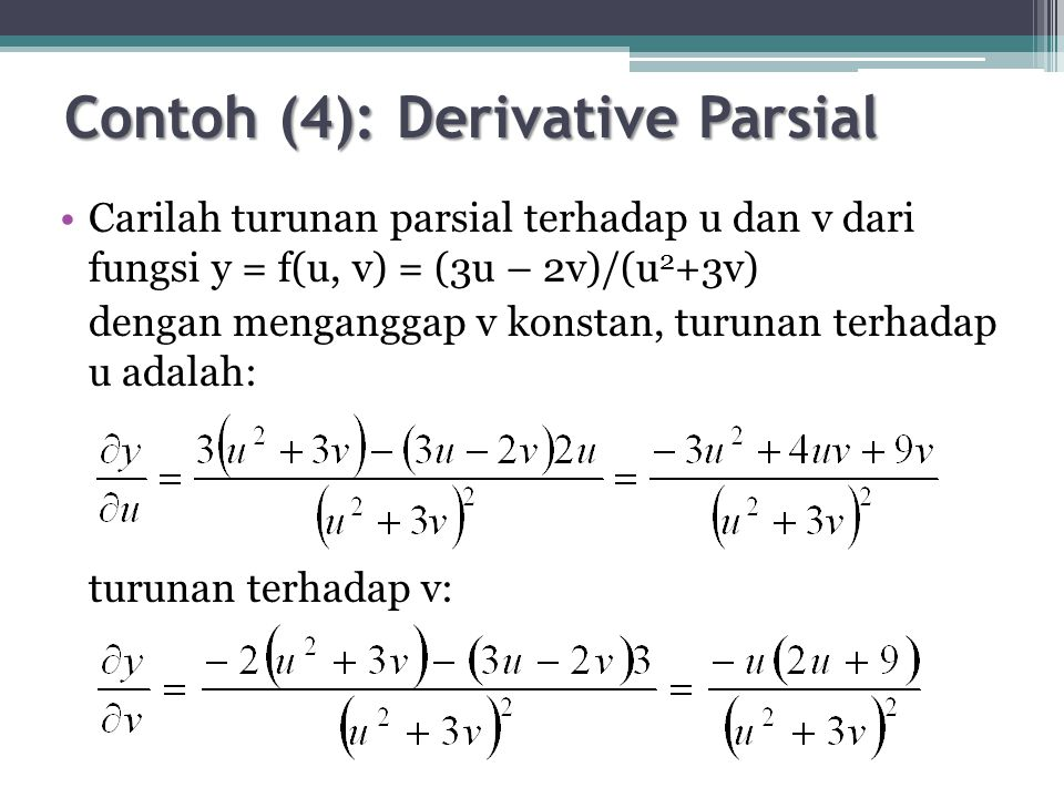 Contoh (4): Derivative Parsial
