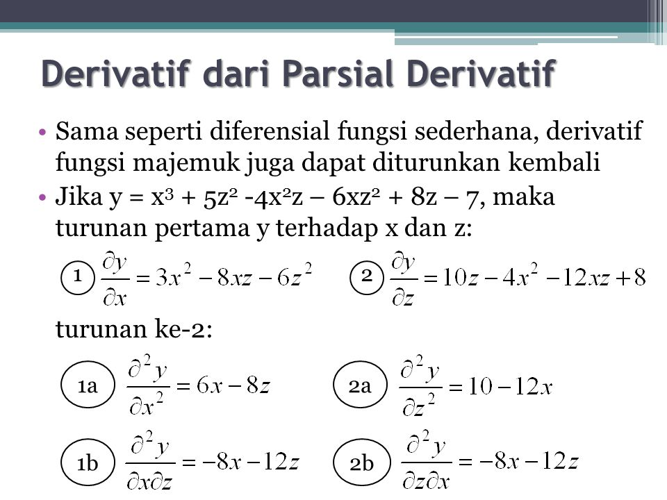 Derivatif dari Parsial Derivatif