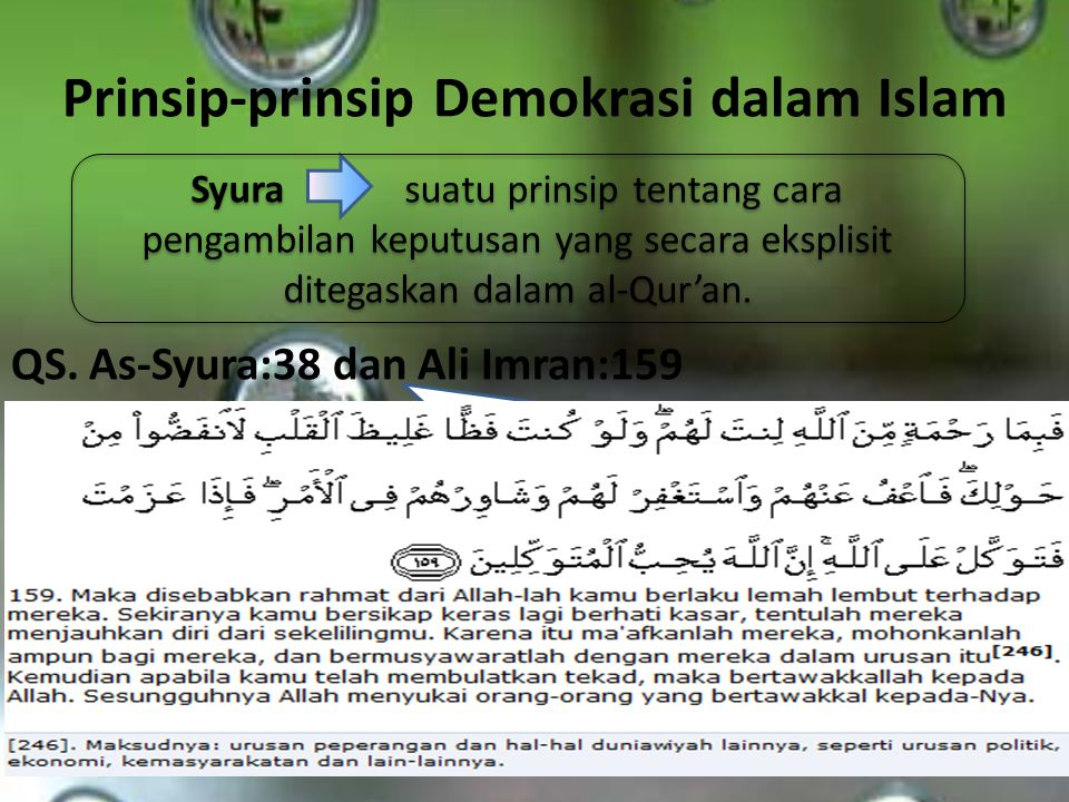 Prinsip-prinsip Demokrasi dalam Islam