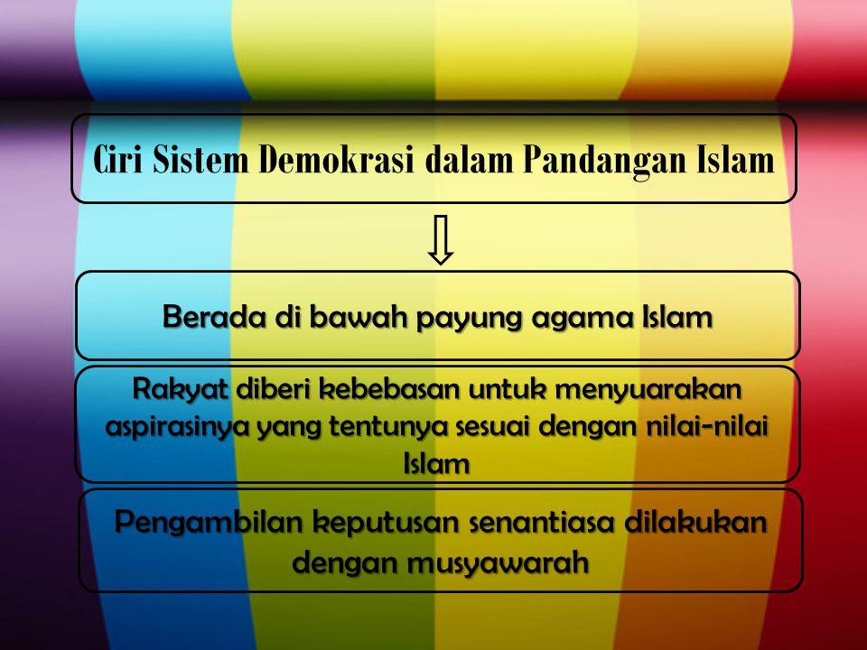 Ciri Sistem Demokrasi dalam Pandangan Islam