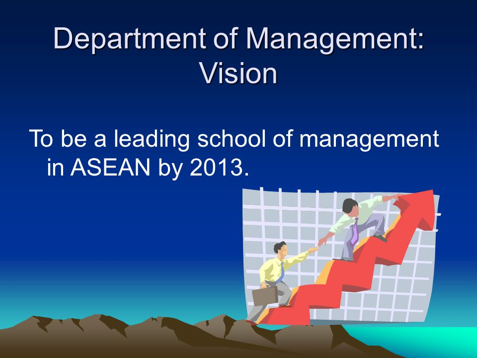 Department of Management: Vision