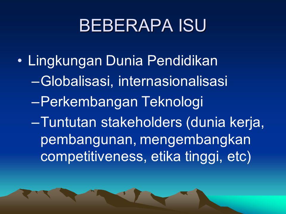 BEBERAPA ISU Lingkungan Dunia Pendidikan