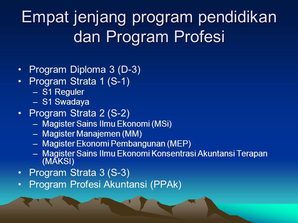 Empat jenjang program pendidikan dan Program Profesi