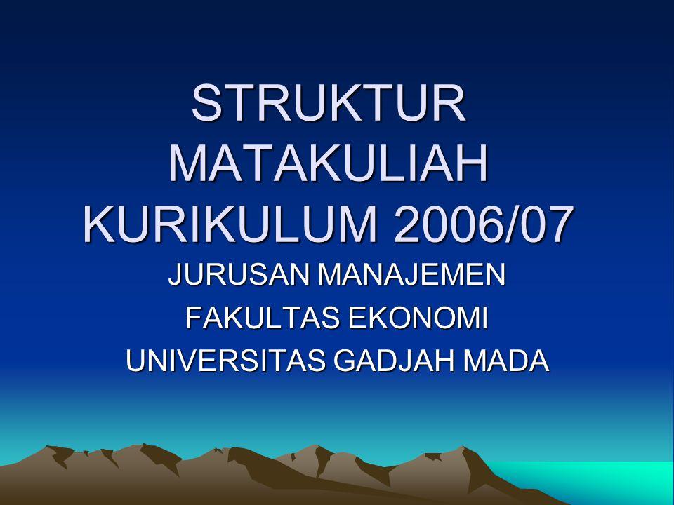 STRUKTUR MATAKULIAH KURIKULUM 2006/07