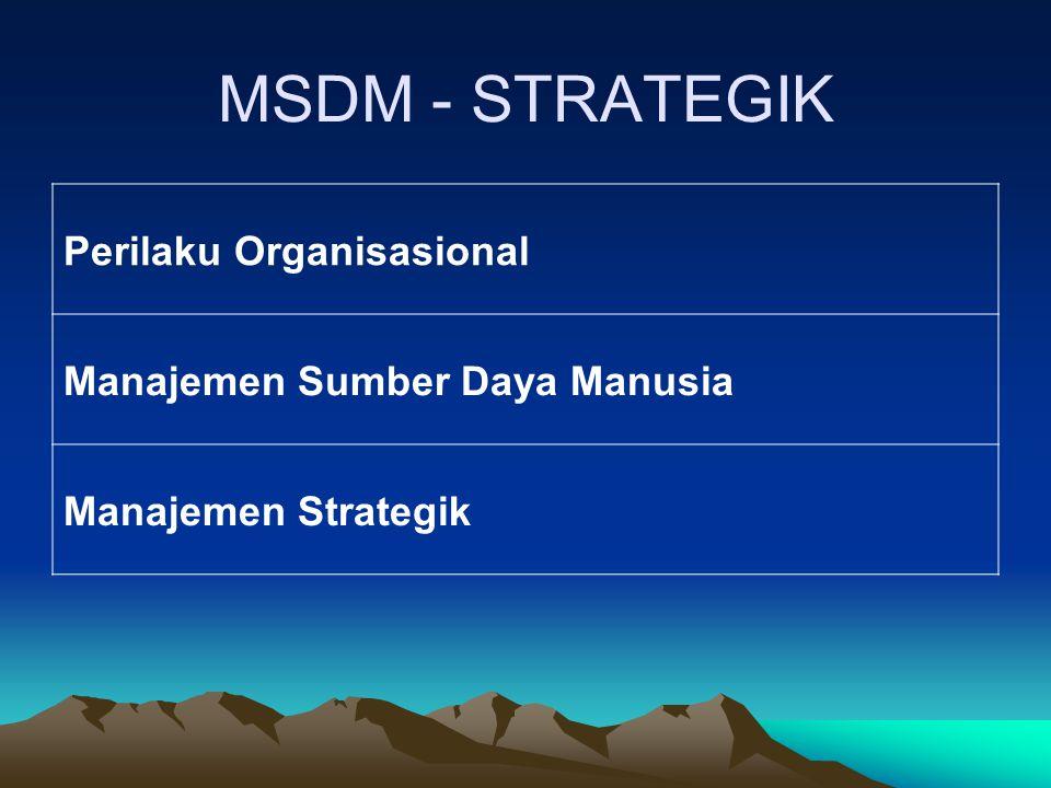 MSDM - STRATEGIK Perilaku Organisasional Manajemen Sumber Daya Manusia