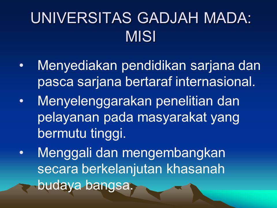 UNIVERSITAS GADJAH MADA: MISI